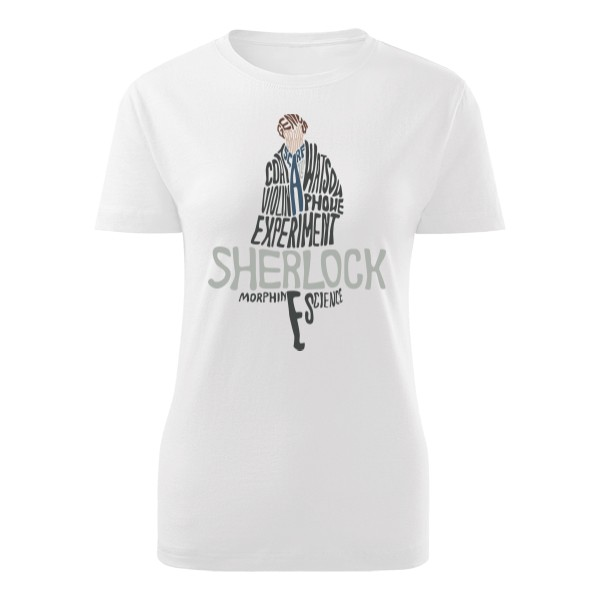 Tričko s potiskem Sherlock Lady